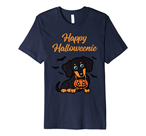 Dachshund Halloween Shirt (Happy Halloweenie T-Shirt Dachshund Dog)