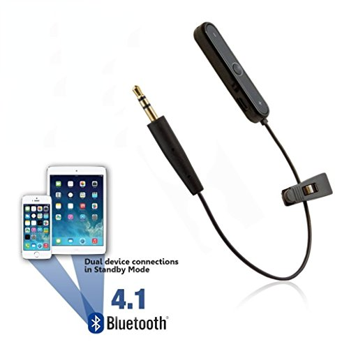 [Reytid] Bluetooth Adapter for Bowers & Wilkins P5 & P7 (B&W) Headphones - Wireless Converter Receiver Earphones ()