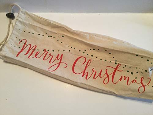 Avon Vintage Brooch - Merry Christmas Drawstring Wine Bag