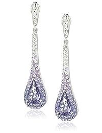 Sterling Silver Purple Tear Drop Earrings with Swarovski Elements
