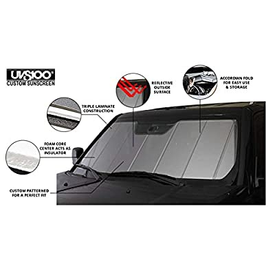 Covercraft UVS100 Custom Sunscreen with Mustang 50 Years Logo Silver UFM11372SV: Automotive
