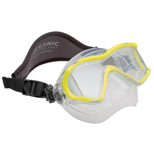 Oceanic Ion 3 Mask For Scuba And Snorkeling   Neon Yellow