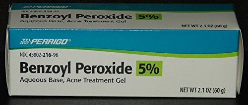 Price comparison product image Perrigo 5 Percent Benzoyl Peroxide Acne Treatment Gel 60gm Tube