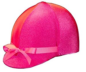 Equestrian Riding Helmet Cover - HOT PINK