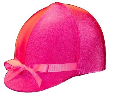 - Equestrian Riding Helmet Cover - HOT PINK