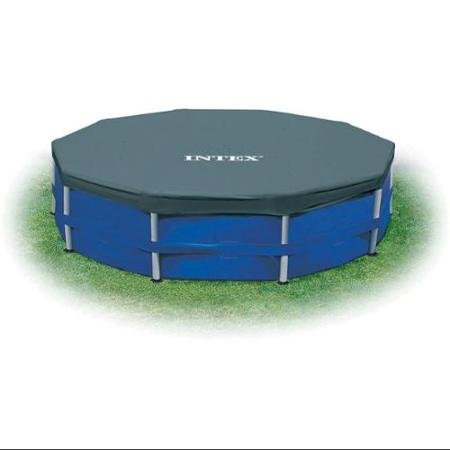 Frame Set Pool Cover - BLOSSOMZ Intex 12' Round Frame Set Easy Swimming Pool Debris Cover | 28031E