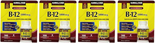 Kirkland Signature Sublingual B-12 5000 mcg, 300 Tablets (4 Pack) by Kirkland Signature