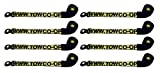 BA Products wb38-3d x 8, Set of 8 Straps with Snap Hooks for Dynamic, Century, Vulcan Autoloader Wheel Lifts, Wreckers, Tow Trucks