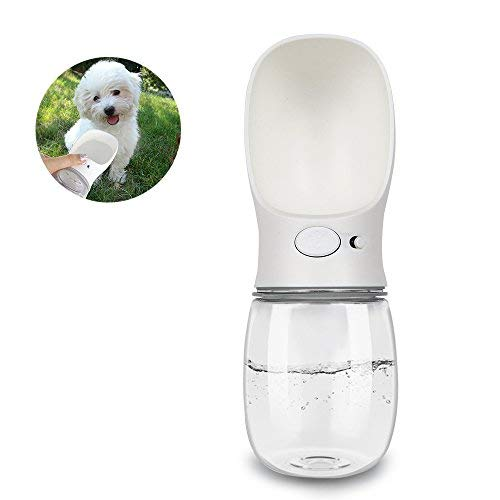 NYKKOLA Portable Dog Water Bottle Walking, Pet Travel Water Dispenser, Leek Proof, One Hand Operation, BPA Free, 12 oz/350ml