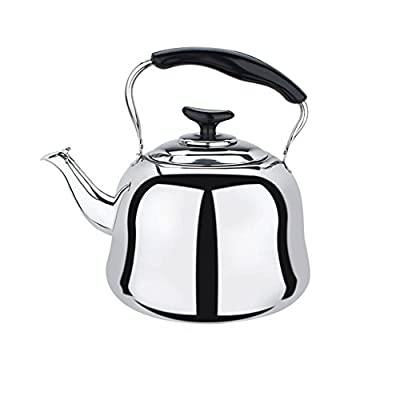 Stainless Steel Whistling Teakettle Teapot Cookware Silver Tone