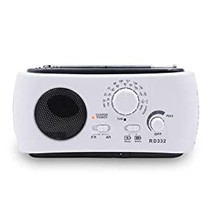 GTJXEY Radio Receiver Multifunction Am/Fm Dynamo Solar Radio Powerful Crank Generator Charger,For family life, camping…