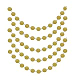 Gold Glittery Circle Dot Garland Decoration Banner Sparkling 26 Ft Party Supplies Background Decor. Great For Parties,Weddings,Birthdays,Bridal Showers,Holidays,Baby Showers Etc.