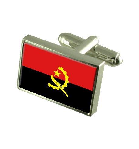 Angola Boutons de manchette drapeau avec select pochette cadeaux