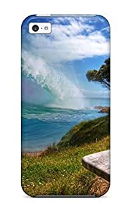 Mary David Proctor FXkchgH512oBIdx Protective Case For Iphone 5c(surfer Waves) Kimberly Kurzendoerfer