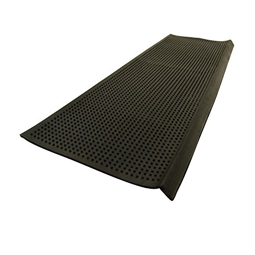 "Rubber-Cal ""Safety First"" Recycled Rubber Step Mat - 9.75..."