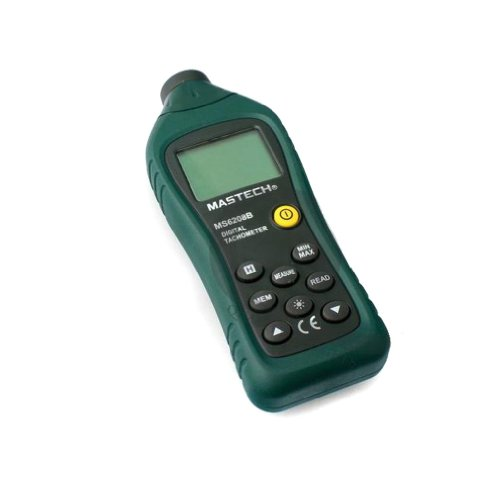 MASTECH MS6208B 5-digit LCD Non-contact Laser Digital Tachometer 50RPM-99999RPM