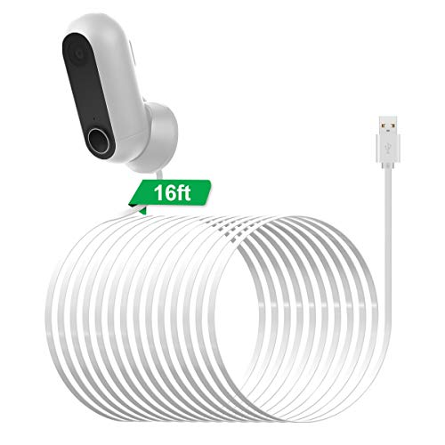 LANMU Power Cable for Canary Flex,Weatherproof Outdoor Power Supply Cord for Canary Flex Indoor Outdoor HD Security Camera (16.4ft/5m) (Charger Not Included)