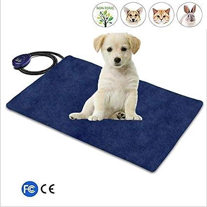 Almohadilla Eléctrica Eléctrica Para Perros Y Gatos. Calentador Ajustable Impermeable Con Cordón Resistente A La