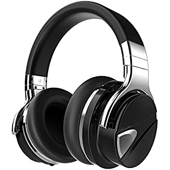 Dylan Active Noise Cancelling Wireless Bluetooth Over-ear Stereo Headphone with Mic,Extra Bass Travel Case Included,Black