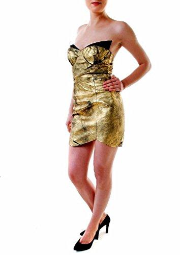 One Mujer Cuero Teaspoon Holier Que Vestido Oro Dorado Mate De AwrfqA