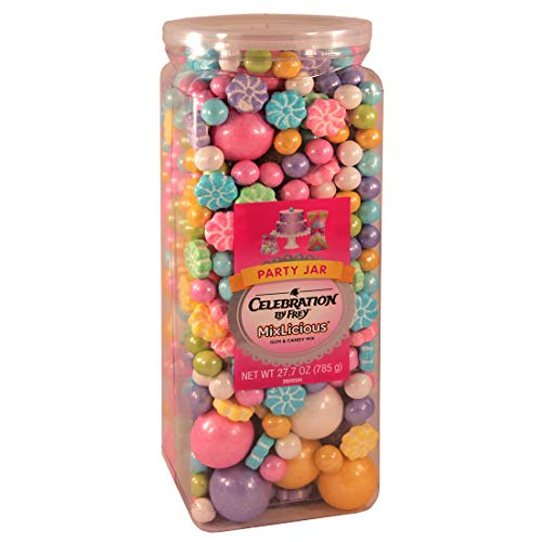 Pastel Colored Candy (Celebration By Frey Mixlicious Spring Mix. Gumball & Chocolate Candy Mix 27.7 oz Party)