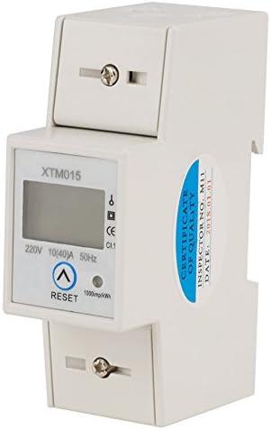 DDS2626 2P Einphasiger elektronischer Energiez/ähler LCD-Anzeige DIN-Schienen-KWH-Leistungsmesser 10 (40) A Manual Zeroing Ordinary Display einphasiger DIN-Schienen-Typ