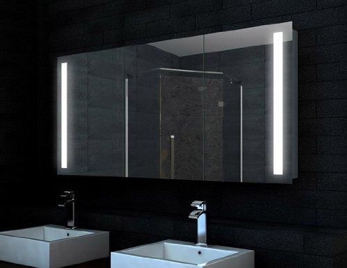 Design Alu Badezimmer Spiegel Schrank LED (140x68) jetzt bestellen
