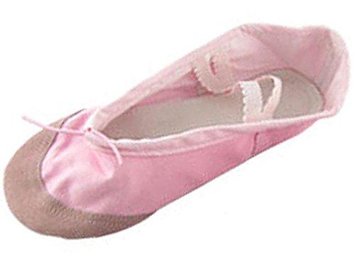 Uxcell Dames Dans Ballet Roze Crossover Canvas Elastische Band Platte Schoenen Maat 5.5 Roze