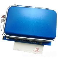 Top moderne Nintendo 3DS XL / DSi / DSi XL / 3DS / New Nintendo 3DS & 2DS XL Tasche / Hardcover / gepolstert Schutzhülle / Case / Pouch in royalblau unifarben