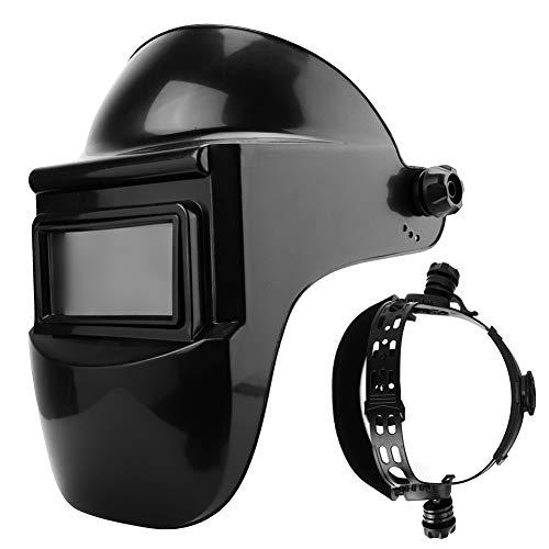 Welding Helmet, Solar Auto Darkening Flat Flip Welding Half Helmet Grinding Welder Mask Shield