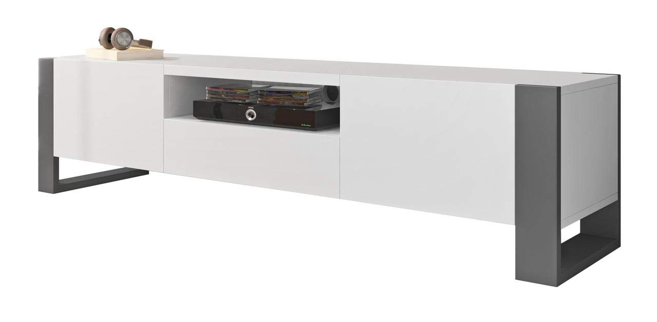 Meble Furniture & Rugs Nuki 71'' Modern TV Stand by Meble Furniture & Rugs