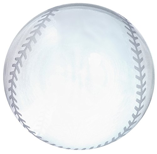 Amlong Crystal Baseball Paperweight 3.5 inch with Gift (Optical Crystal Paperweight)