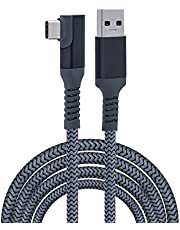 Mcbazel Oculus Link Cable 6m Braided Type-C to USB 3.0 Fast Charging Transfer Right Angle Cable for Oculus Quest/Quest 2/PS5/ Xbox Serie X&S/NS Switch/Type-C Port Devices