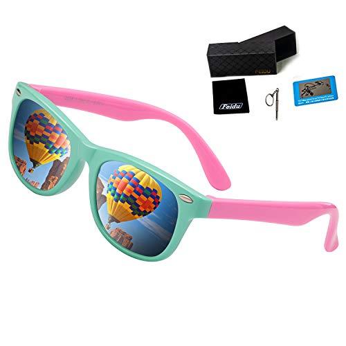fe891c9bb6f Kids Sunglasses For Kids- FEIDU Polarized Sunglasses Girls Child Boys Age 3- 10 FDC2149