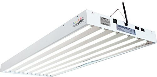 (Hydrofarm Agrobrite FLT46 T5 Fluorescent Grow Light System, 4 Feet, 6 Tube)