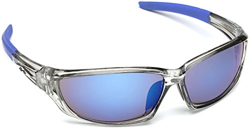 75b113abf2 X-Loop Men s Frosted Clear Frame Colorful Wrap Around Baseball Cycling  Running Sports Sunglasses