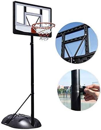MGIZLJJバスケットゴール バスケットボールポータブルボードは、バックボードシステムは、スタンドとアナル、高さ調節、屋内屋外バスケットボールゴールゲームのプレイセット、大人と子供のための