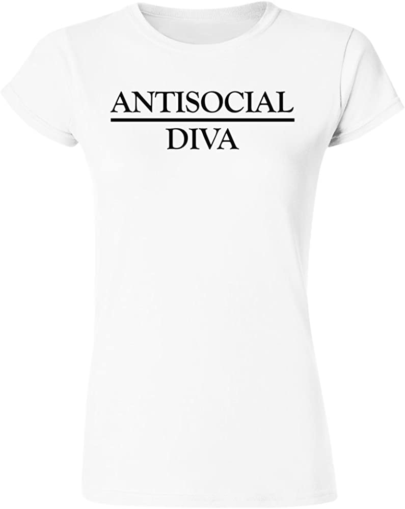 IDcommerce Antisocial Diva Proud to Be Womens T-Shirt Small White