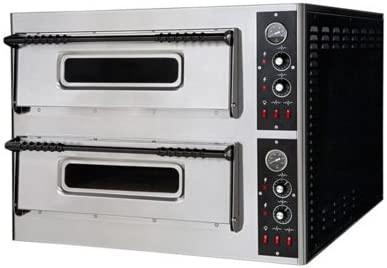 Eléctrico horno para pizza pizzería bar 4+4 pizzas RS2913: Amazon ...