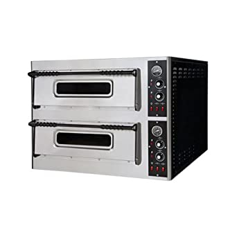 Eléctrico horno para pizza pizzería bar 6+6 pizzas RS2915: Amazon ...