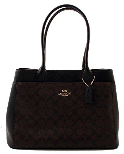 Coach Signature Canvas Casey Tote Handbag (Brown/Black)