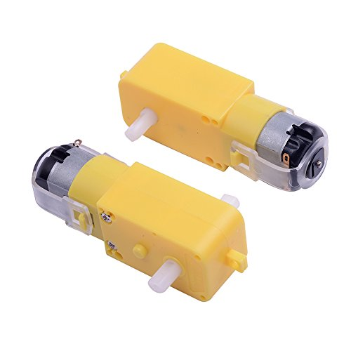 Cylewet 2Pcs Gear Motor Dual Shaft for Smart Car Robot Arduino (Pack of 2) CYT1037