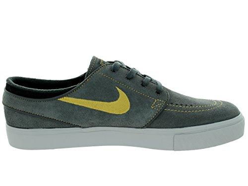 Nike Mens Zoom Stefan Janoski Anthrct / Mtllc Gld / Blk / Brght Cr Skatesko 12 Män Oss
