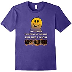Happy Halloween Ghost T-Shirt Love Haunting Gift