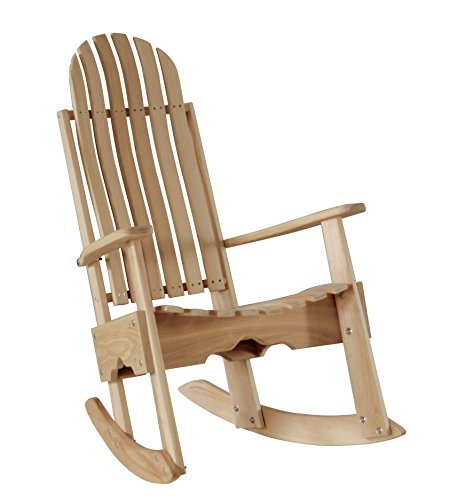 (Cypress Rocking Chair / Rocker Contoured Seat and Back assembled with Stainless Steel Hardware Handmade in the USA with Rot-resistant Eternal Cypress Wood - Eco Friendly - Go Green)