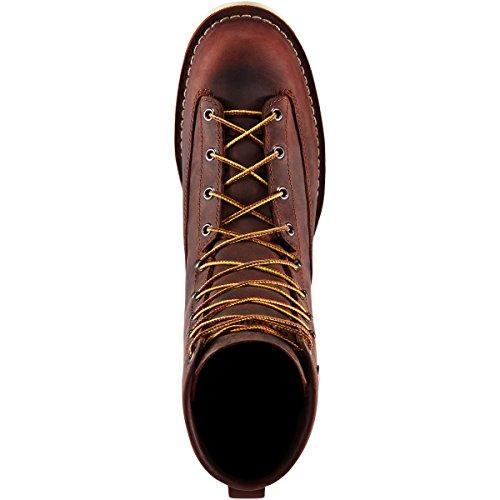 Danner Mens Bull Run 8 Brown Cristy Vibram 4014 | Electrical Hazard, Waterproof Oil & Slip Resistant Work Boots