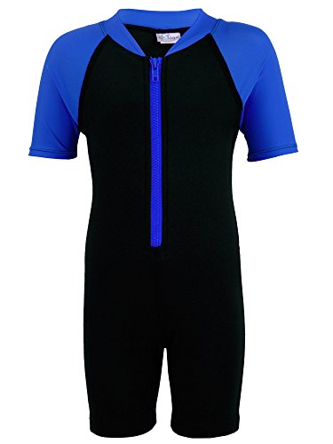 Tuga Boys Thermal Wetsuit (UPF 50+), Royal, M (9/10 - Chart Sizes Wetsuit