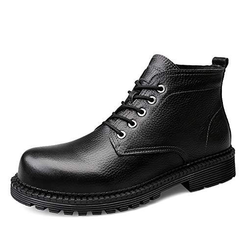 Opcional Negro Faux De 45 Dentro Trabajo Altas Hombre Para Botas Tamaño Negro color Tobillo Casuals Eu Jaypar Invierno convencional Moda Superior Fleece H1Z845n