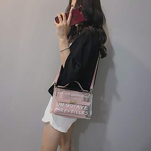 Tasca Vovotrade Versatile Interna Borsetta Di Donna 2019 Nuova borsa Moda Donne Trasparente Rosa Tracolla 4XnWwXFrYq