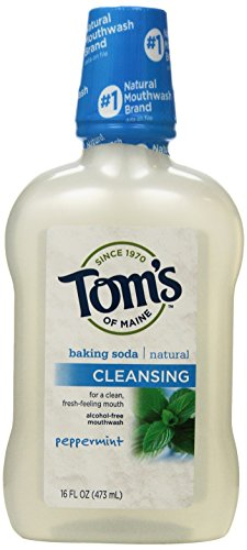 Mouthwash Peppermint Baking Soda - Tom's of Maine Cleansing Mouthwash, Peppermint Baking Soda, 16-Ounce, 3 Count